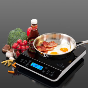 Digital LCD Sensor-Touch Control Panel with ketchup and tomatoes
