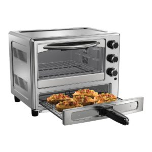 silver Convection Oven with Dedicated Pizza Drawer
